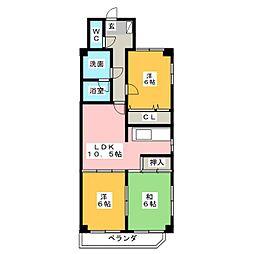 ハートインYASUI[4階]の間取り