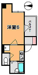 奈良県奈良市林小路町の賃貸マンションの間取り
