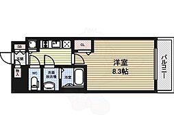 プレサンス大曽根駅前ファースト 11階1Kの間取り