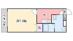 福岡県福岡市西区今宿1丁目の賃貸マンションの間取り