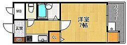 兵庫県尼崎市武庫之荘西2丁目の賃貸マンションの間取り