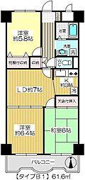 ダイヤメゾン戸田公園[413B1号室]の間取り