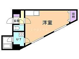 第6松屋ビル 6階ワンルームの間取り
