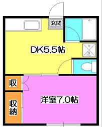 第3上薗荘[2階]の間取り