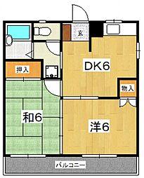 フローラルマンション[201号室号室]の間取り