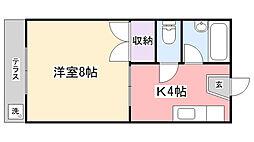 コーポ川島第三[105号室]の間取り
