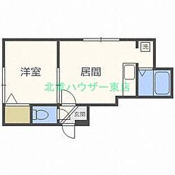 北海道札幌市東区北二十一条東13丁目の賃貸アパートの間取り