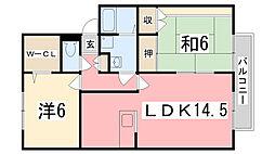 ロイヤルグレース花田[C102号室]の間取り
