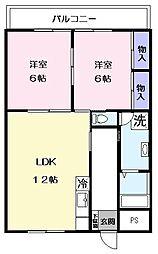 和田マンション[402号室]の間取り