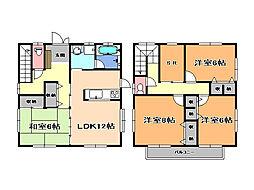 [一戸建] 栃木県さくら市上野 の賃貸【/】の間取り