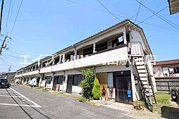 岡山県岡山市北区大元駅前の賃貸アパートの外観