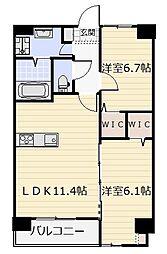 ネクステージ三萩野[605号室]の間取り