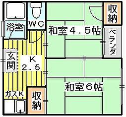 モリハイム豊新B棟 (旧ユタカマンション)[2階]の間取り