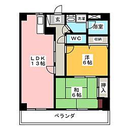 ヤマコ第2ビル[7階]の間取り
