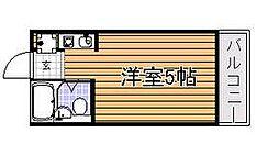 フリックコート三宮フロント[2階]の間取り