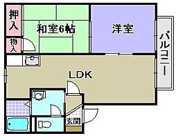 グリーンピア和泉[2階]の間取り