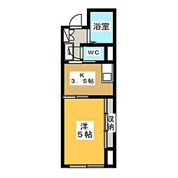 ロイヤルマンション中田[1階]の間取り