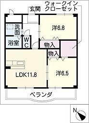 T−GRATITUDE[2階]の間取り