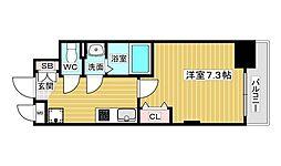 Luxe新大阪V 6階1Kの間取り