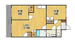 シャトレーゼ熊本[1階]の間取り