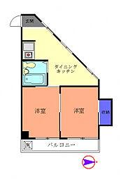 栄ハイツ[3階]の間取り
