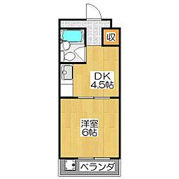 IVY SQUARE西ノ京[302号室]の間取り