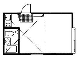 エイト砂川[2階]の間取り