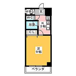 フローラ98[8階]の間取り
