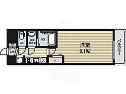 プレサンス大須観音駅前 8階1Kの間取り