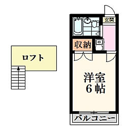 橘ハイツ桜ヶ丘[2階]の間取り