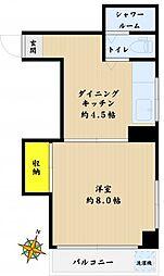 コーポタカノ[302号室]の間取り