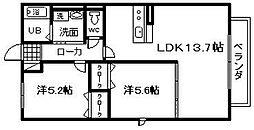 コートボナール 1[1階]の間取り