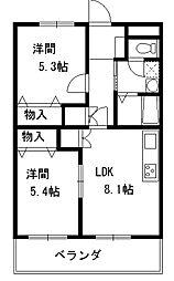 プリマベラ木曽[1階]の間取り