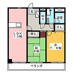 グランディール・163[8階]の間取り