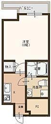 ラシーヌ宿院[8階]の間取り