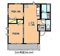 逢春館(ほうしゅんかん)[2階]の間取り