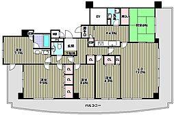 南貴望ヶ丘パークホームズ[1階]の間取り