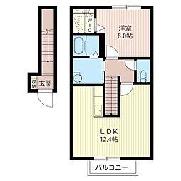 セレクション D[2階]の間取り
