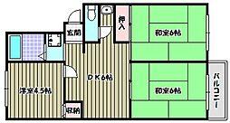 メゾンユイティエーム[2階]の間取り