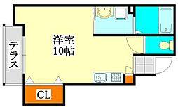 谷津高台の家[101号室]の間取り