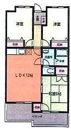 グランメール[3階]の間取り