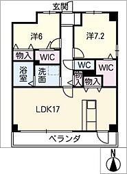 スタシオン川名公園[2階]の間取り