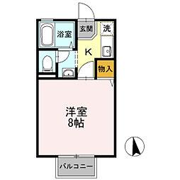 セジュール・ユタカA棟[2階]の間取り