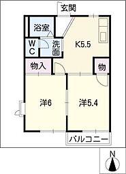 モンゴメリー[2階]の間取り