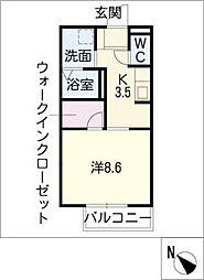 タウンコート松阪[1階]の間取り
