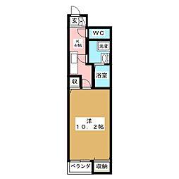 クレストVI[1階]の間取り