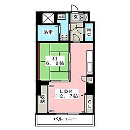 レジデンスカープ博多[12階]の間取り