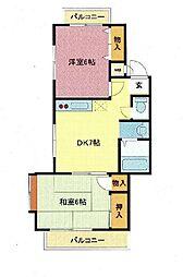 埼玉県さいたま市浦和区東岸町の賃貸マンションの間取り