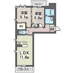 PRADO[2階]の間取り