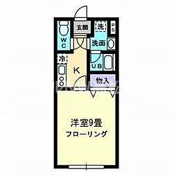 香川県高松市西内町の賃貸マンションの間取り